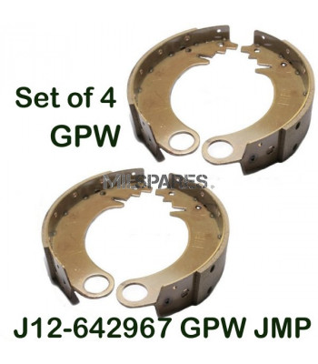 Brake shoes, set of 4, GPW