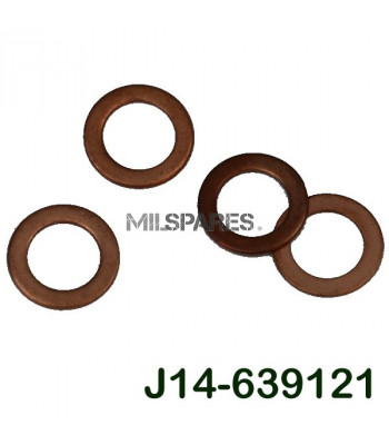 Copper washers, side plate
