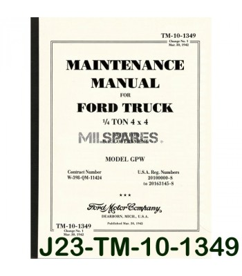 Maintenance manual, Ford