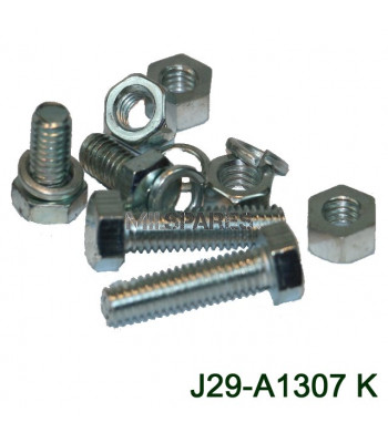 Spare wheel carrier bolt set