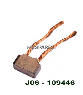Starter motor brush, ground