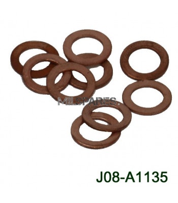 D18, copper washer, front/r