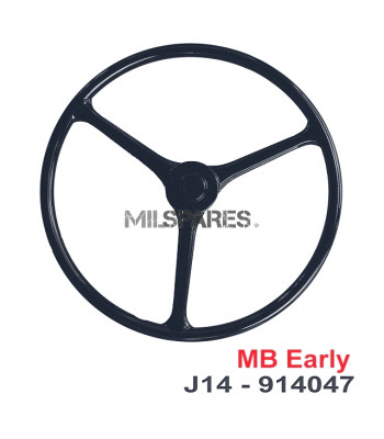 Steering wheel solid black MB