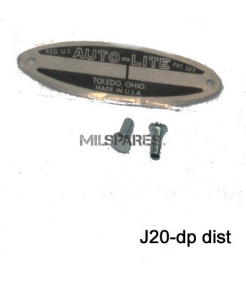 Data plate, distributor