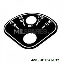Data plate,rotary light switch