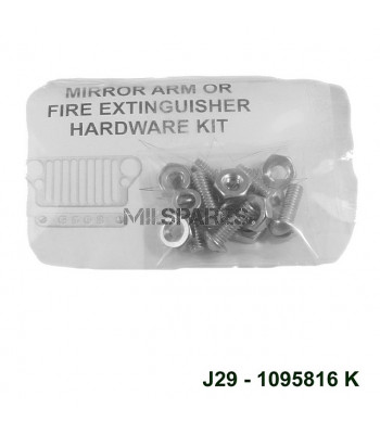 Mirror arm fire ext H'ware kit